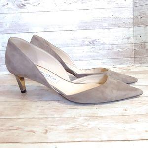 Jimmy Choo Darylin D'orsay suede kitten heels
